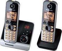 Panasonic Telefon KX-TG6722G, Schnurlos, Farbe: Schwarz