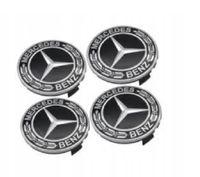 Generic 4 Stück 75mm Ersatzteil Nabendeckel Radnabenkappen Felgendeckel für Mercedes Benz Felgenkappen Nabenkappen Wheel Caps Radnabenabdeckung