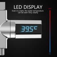 LED-Anzeige Wasserduschthermometer Wassertemperaturmonitor Selbsterzeugender Strom Smart Meter Baby Pet Shower Thermometer