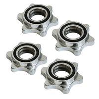 4 Stück Standard Sternverschlüsse 25 mm für Hantelstangen