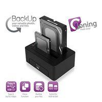 Ewent EW7014 Dockingstation USB 3.1 Gen1 (USB3.0) für 2,5- und 3,5-Zoll-SATA-Festplatten/SSDs