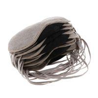 10pcs Weiche Schlafmaske Augenmaske Schlafbrille mit Verstellbarem Riemen für Flugzeug, Arbeitsplatz, Auto, Haus