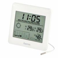 Hama EWSC-100, Weiß, Innen-Hygrometer, Innen-Thermometer, Außen-Thermometer, 20 - 99%, -10 - 60 °C, -30 - 60 °C, Batterie/Akku