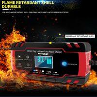 Touch Screen Auto 12V 6-150Ah Intelligent Puls Reparatur Tragbares LCD Ladegerät SUV Kfz Autobatterie Ladegerät