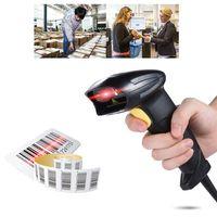 Aibecy Wired Automatischer Hand-Barcode-Scanner Reader USB2.0 Kabel fuer Supermarktbibliothek Express Company Retail Store Warehouse Schwarz