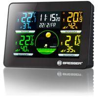 BRESSER Thermo Hygro Quadro NLX - Thermo-/Hygrometer mit 3 Außensensoren