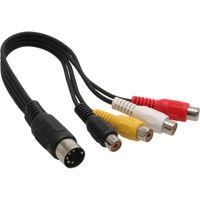 InLine® DIN Adapterkabel 5pol DIN Stecker auf 4x Cinch Buchse, 0,2m