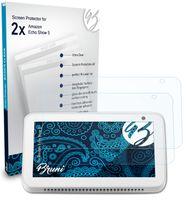 Bruni Basics-Clear 2x Schutzfolie kompatibel mit Amazon Echo Show 5 Folie