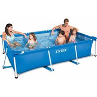 Intex Familienpool 300x200x75cm, blau, Fassungsvermögen: 3.843 Liter bei 90%