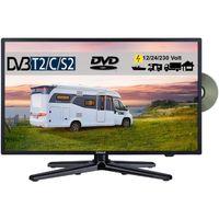Gelhard GTV1982 LED Fernseher 19 Zoll TV DVD DVB-S/S2/T/T2/C 230 / 12/ 24 Volt