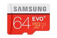 Samsung microSDHC Speicherkarte EVO+ 64 GB mit SD Adapter