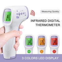 Berührungslose Fieberthermometer Stirn Infrarot thermometer digitale termometer zur Temperaturmessung für Kinder Erwachsene(Mit Deutschland Benutzerhandbuch)
