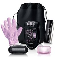 Philips HP 6424/01 Satinelle Epilierer schwarz/rosa, Farbe:Schwarz/Rosa