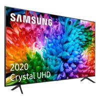 Samsung UE50TU7105KXXC, 127 cm (50 Zoll), 3840 x 2160 Pixel, LED, Smart-TV, WLAN, Karbon, Grau, Silber