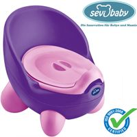 Kindertoilette in Lila / Rosa   Töpfchen Lern Toilette Toilettentrainer Lerntöpfchen 66-9 Sevibaby
