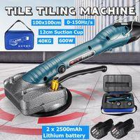 MECO Fliesen-Vibrator Elektrisch Handgerät Automatische Nivelliermaschine Werkzeug für Bodenwand 600W mit 2 Akkus