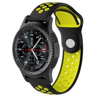 Samsung Galaxy Watch Active R500 Watch 42mm SM-R810/R815 Silikon Armband Nylon Sport Band 20mm Black/Yellow