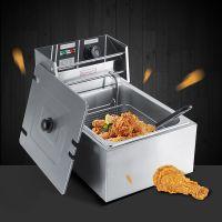 6L 2500W Elektrische Friteuse Edelstahl Gastro Gerät Fritöse Kaltzonen Fritteuse