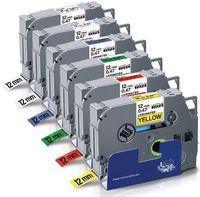 UniPlus kompatibel Schriftband Ersatz für Brother TZ Tape 12mm TZe-231 TZe-131 TZe-431 TZe-531 TZe-631 TZe-731für Brother P-Touch Cube Plus PT 1000 1010 H105 H110 D400 D210 D400VP E100 H107B, 6er Pack