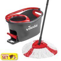 Vileda Wischmop-Set Turbo Easy Wring & Clean incl. Powerschleuder und Fußpedal, Farbe Grau