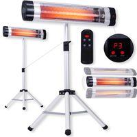 Kesser® Infrarotstrahler Heizstrahler Terrassenstrahler Wärmestrahler nach Wahl, Leistung:2500W mit Fernbedienung