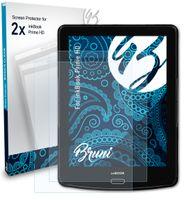 Bruni Basics-Clear 2x Schutzfolie kompatibel mit inkBook Prime HD Folie