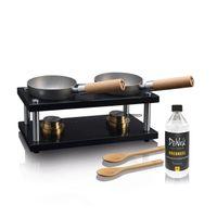 DeWok Tisch-Kochset für bis zu 4 Personen Tischgrill Edelstahl indoor outdoor