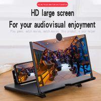 14 Zoll schwarz Handy-Bildschirmlupe 3D HD Bildschirmverstärker Screen, Amplifier Stand Telefon 3D-Video Verstärker Smartphone-Bildschirmlupe Vergrößern für Universal-Handy
