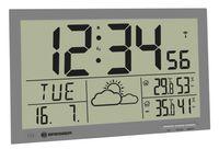 BRESSER MyTime Jumbo LCD Wetter-Wanduhr Farbe: grau