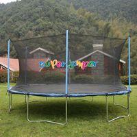 Super Jumper  AirBound Trampolin 488 cm   Gartentrampolin   Outdoor Trampolin   Sicherheitsnetz mit Stabilitätsring   Belastbarkeit 150 kg