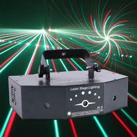 500mw 3-Linsen-RGB-Stromlinien-Laser Projektor Licht Partylicht DMX DJ Party Show Club Lichteffekt Bühnenbeleuchtung Effektlichter für Disco, KTV, Bar für darstellende Künste, Nachtclub, Mehrzweck