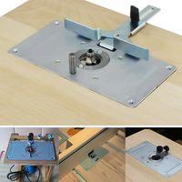 Aluminium Router Tischplatte mit 4 Ringen und Schrauben fuer Holzbaenke Router Tischplatte