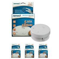 3x Nemaxx Mini-FL2 Rauchmelder - hochwertiger & diskreter Mini Brandmelder Feuermelder Rauchwarnmelder mit Lithium Batterie - nach DIN EN 14604