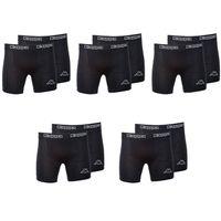 10er Pack Kappa Boxershorts Schwarz Unterwäsche Herren Boxer Short S-M-L-XL-XXL, Größe:S