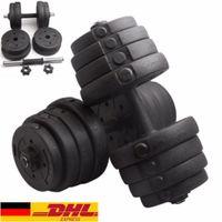 20 kg Hantelset Hantel Set Gewichte Gewichtübungen Langhantel Krafttraining Hanteltraining für Gymnastik und Fitness