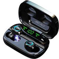 Abelanja Bluetooth 5.0 Kabellos Kopfhörer, Sport Wireless Ohrhörer in Ear Kopfhoerer Bluetooth Headphones 120H Spielzeit HiFi Deep Bass 3D Stereo Sound IPX7 Wasserdicht Touch Control für Android & iOS(Schwarz)