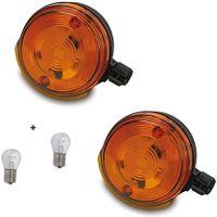 SET: 2x 12V Blinker vorn mit E-Prüfzeichen + 2x Lampe BA15S 21W für Simson S50, S51, S70, SR50, SR80