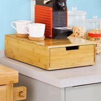 SoBuy Kaffeekapsel Box,Kapselspender,Schreibtischorganizer,Monitorständer,Monitorerhöhung,FRG83-N