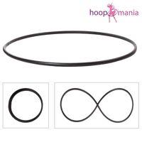 Faltbarer Hula Hoop Rohling, 25er Rohr, Ø 140cm, Schwarz