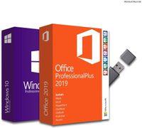 Windows 10 Pro + Office Professional Plus 2019, Bundle mit USB-Stick 1 Stück