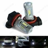 2X H8 H11 LED 10W Birne Nebelscheinwerfer Tagfahrlicht Glühlampen Weiß 12V