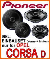 Lautsprecher - Pioneer Komplettset für vorne & hinten für Opel Corsa D - justSOUND