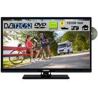 Telefunken T24X740I mobil LED TV DVD 24 Zoll DVB/S/S2/T2/C, USB, 12V 230 Volt