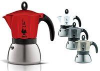 Bialetti Induktion Espressokocher 6 Tassen Moka Espresso Kocher Espressomaschine, Farbe:Rot