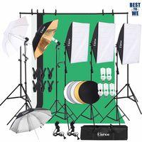 3M / 9.8ft Professionelles Fotostudio-Set Hintergrund Stützsystem Softbox Dauerlicht Set 5500K Regenschirm mit 2M-Stativ für Porträts, Produktfotografie und Videoaufnahme