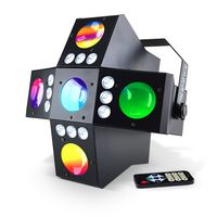 Wiedergabe von Licht 2-in-1 LED RGBA - DMX - 20 Gobos + Stroboskop - IBIZA LIGHT QUER GOBOFX