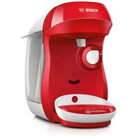 Bosch TASSIMO Happy + 20 EUR Gutscheine* Heißgetränkemaschine Kapsel Maschine, Farbe:Rot