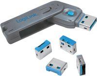 LogiLink USB Sicherheitsschloss 1 Schlüssel / 4 Schlösser
