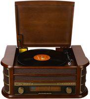 Denver MCR-50 Retro Plattenspieler und CD-Kompaktanlage, 3W, CD, Holz