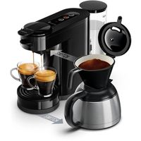 PHILIPS SENSEO HD6592 / 61 Kaffeemaschine mit Kapsel oder Filter Schalter - Isolierkanne - 1 l - tiefschwarz
